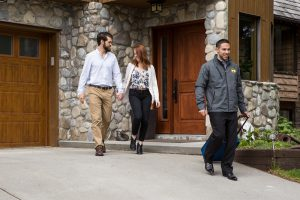 Offering door-to-door transportation in Banff